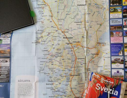 cartina e guida turistica svedese