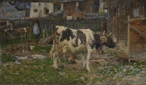 Vacca bagnata, quadro di Segantini