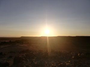 tramonto sul canyon