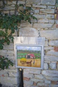 dipinto su cassetta elettricità