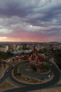 Christuskirche al tramonto