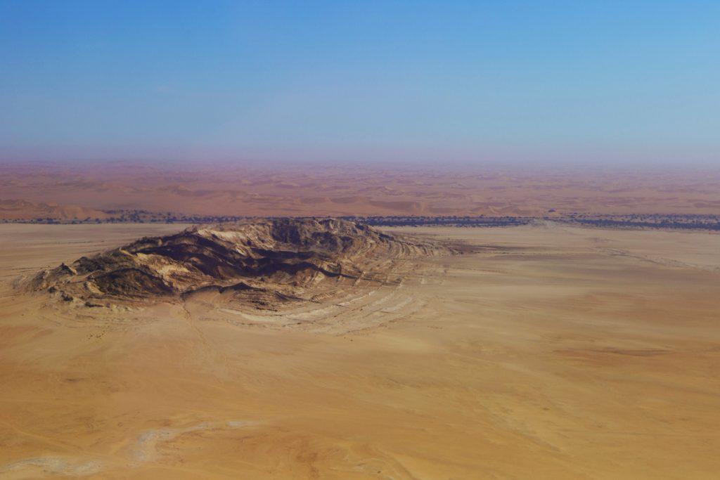 deserto dall'alto
