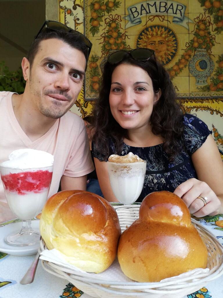maritozzo e granita Taormina