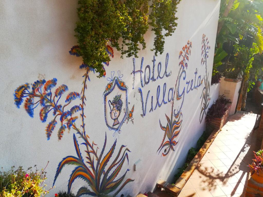 Murales Hotel villa greta Taormina