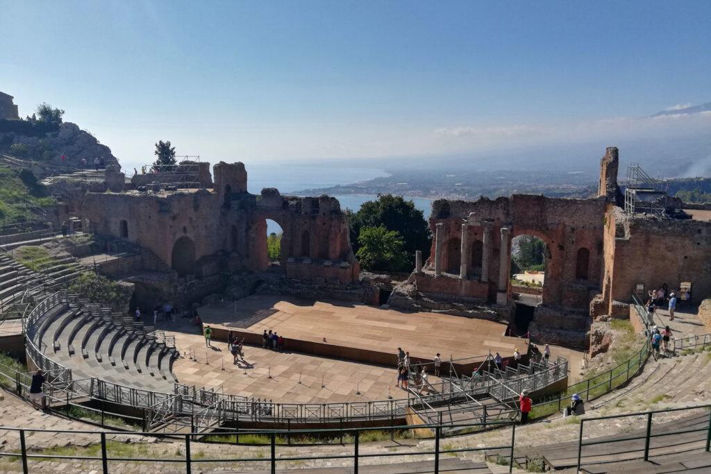 Teatro greco e mare