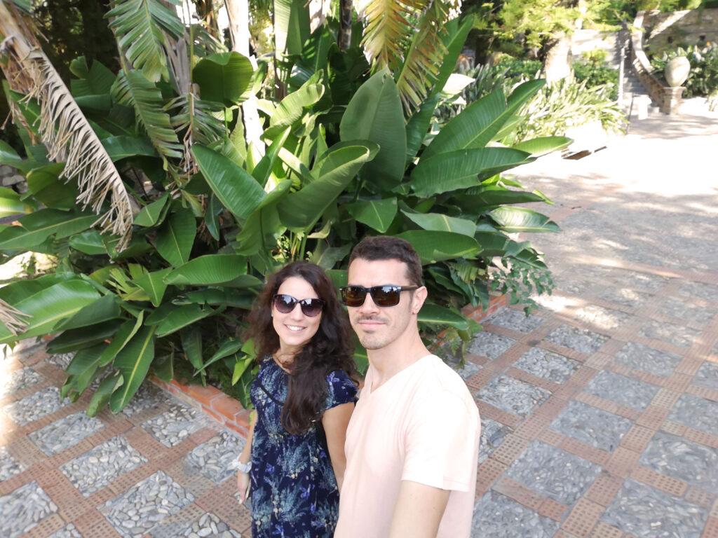 banano alla villa comunale di Taormina
