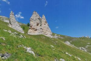 formazioni rocciose di tipo dolomitico