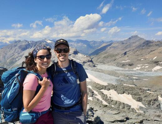 coppia con panorama da Rocciamelone, val di Susa